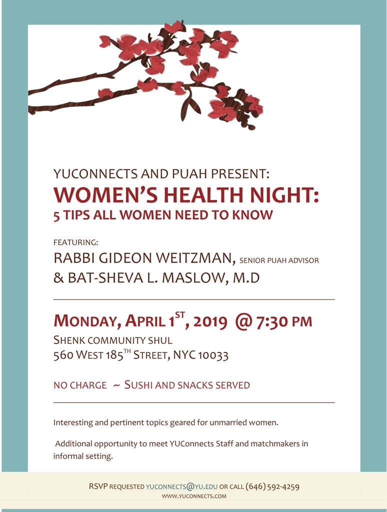Women's Health Night!