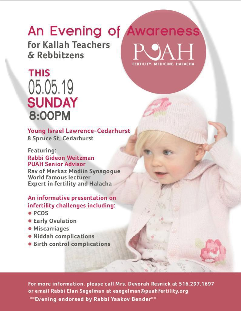 Evening of Awareness for Kallah Teachers and Rebbitzens