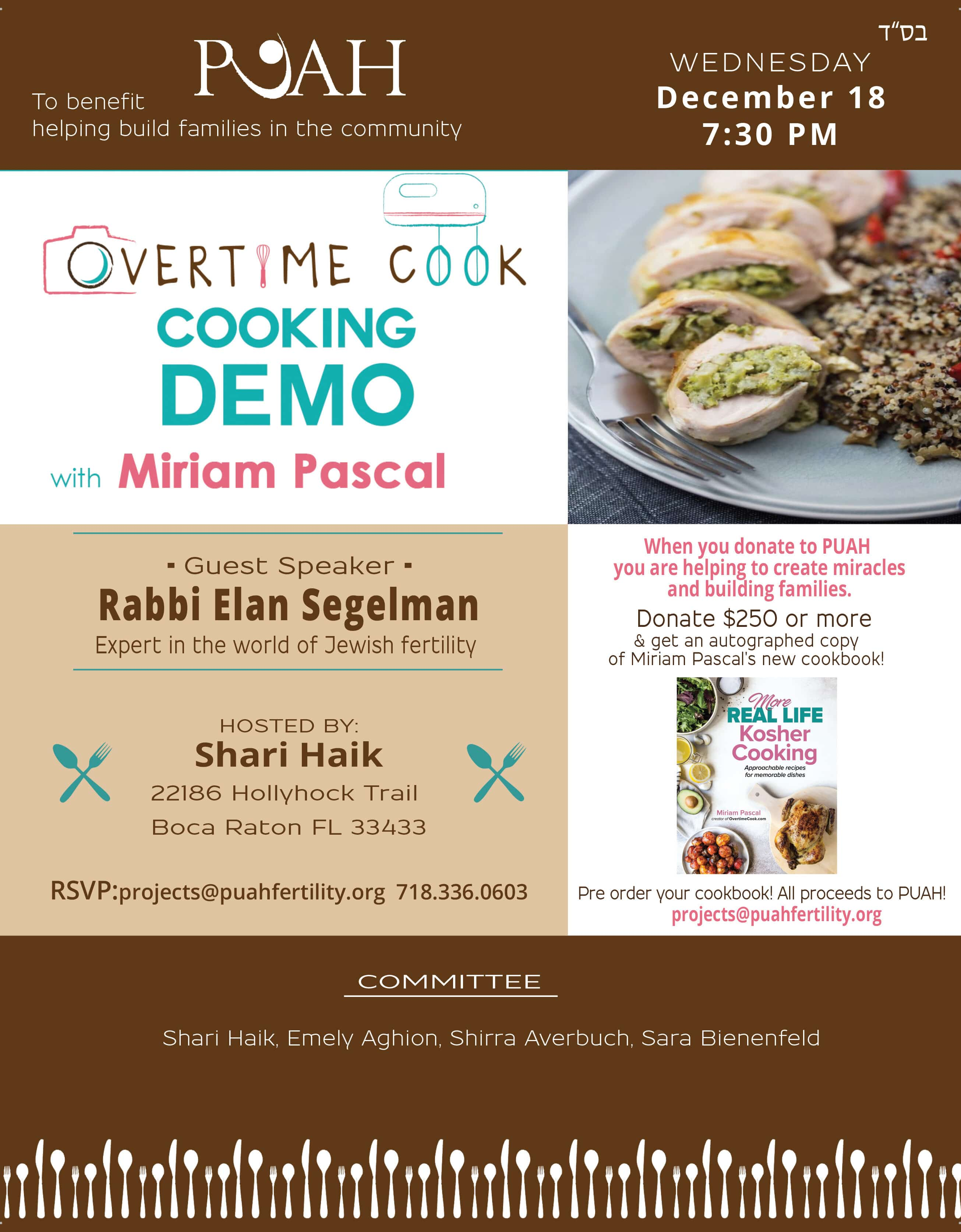 Cooking Demo with Miriam Pascal!